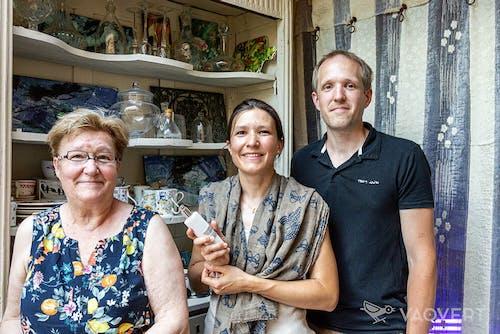 Agnès, Tiphaine et Jonathan